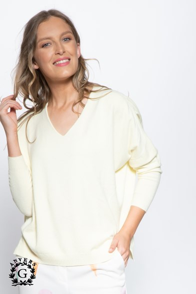 Knit V Neck Soft Touch