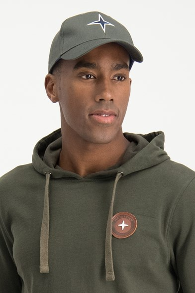 Arctic Leather Badge Hoodie