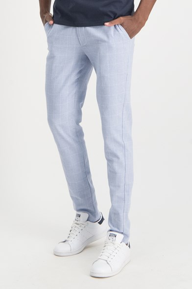 Italian Made Doby Check Stretch Trouser