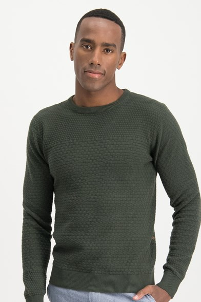 Light Structure Crew Neck Pullover