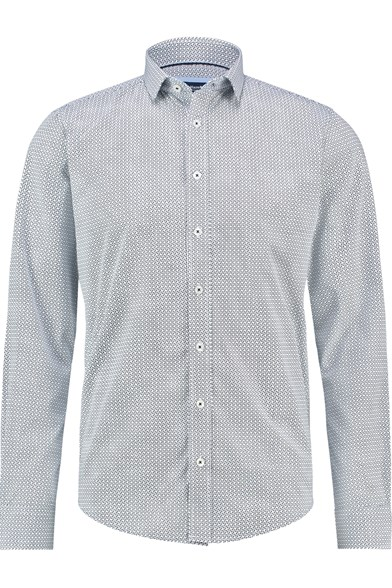 Italian Fit Cubed Print Stretch Shirt