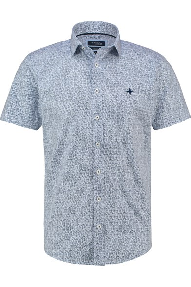 Italian Fit La Fleur Print Short Sleeve Stretch Shirt