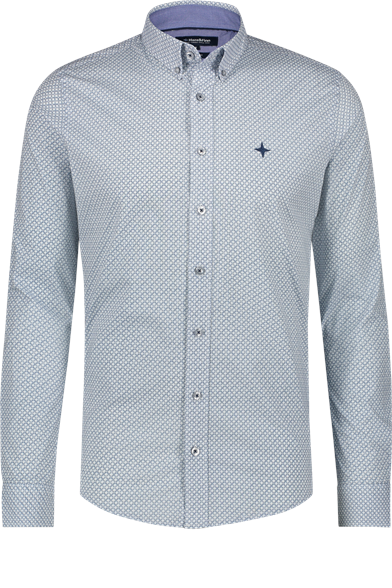 Regular Fit Argyle Print Stretch Shirt