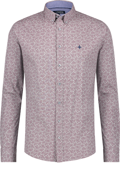 Regular Fit Paisley Print Stretch Shirt