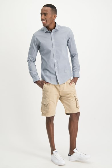 Italian Fit Tilted Print Stretch Shirt