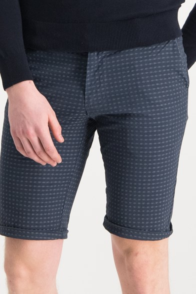 Italian Made Seersucker Stretch Short