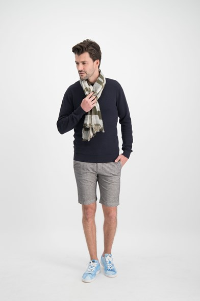 Structured Slim Fit Chino Short