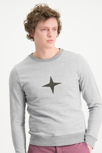 Cut Out Logo Crew Neck Sweatshirt